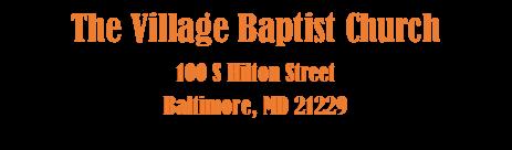 The Village Baptist Church Logo